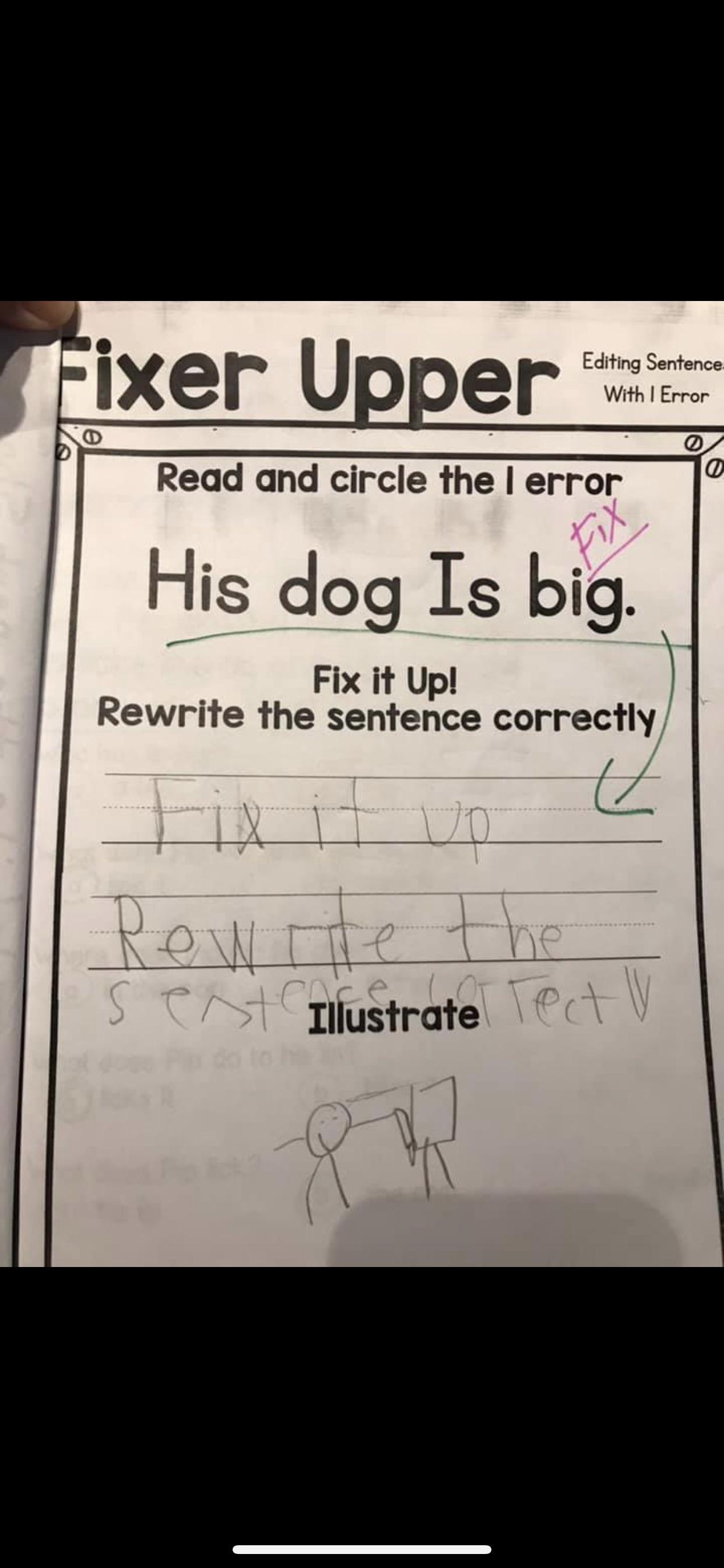 Kindergarten Worksheet From A Friends Kid