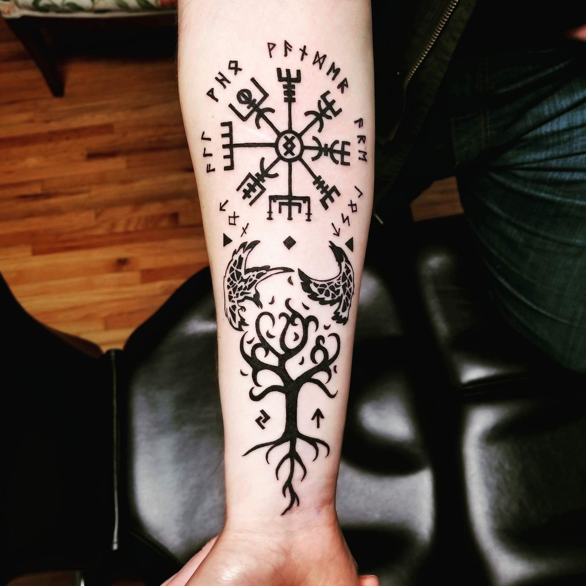 Bref, un symbole trop cool à se tatouer. Norse Tattoos Norsk 2020