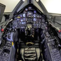 The cockpit of SR-71 Blackbird