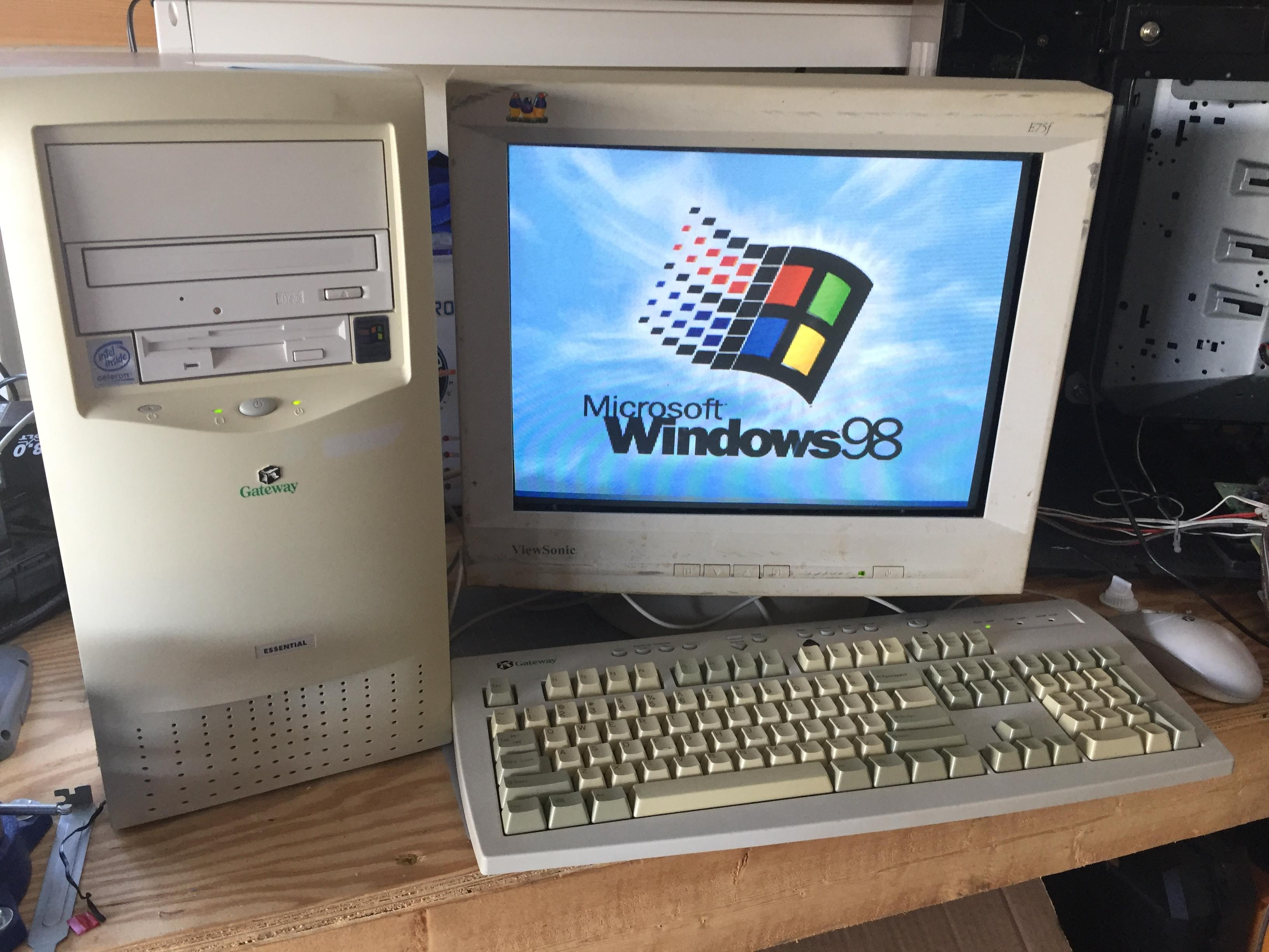 Just Paid Money For An Old Windows 98 System Nostalgia