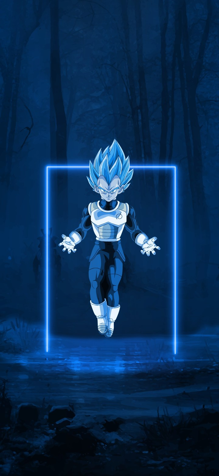 Started making wallpapers for my phone last week! Here's the Prince of all saiyans ;)