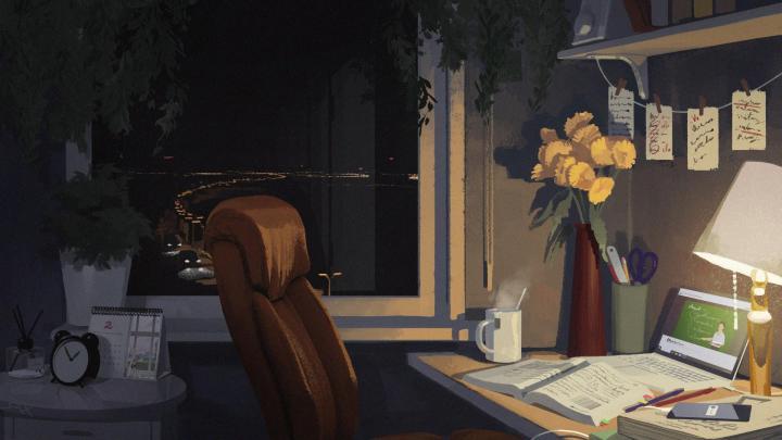 Midnight Study [1920 x 1080]