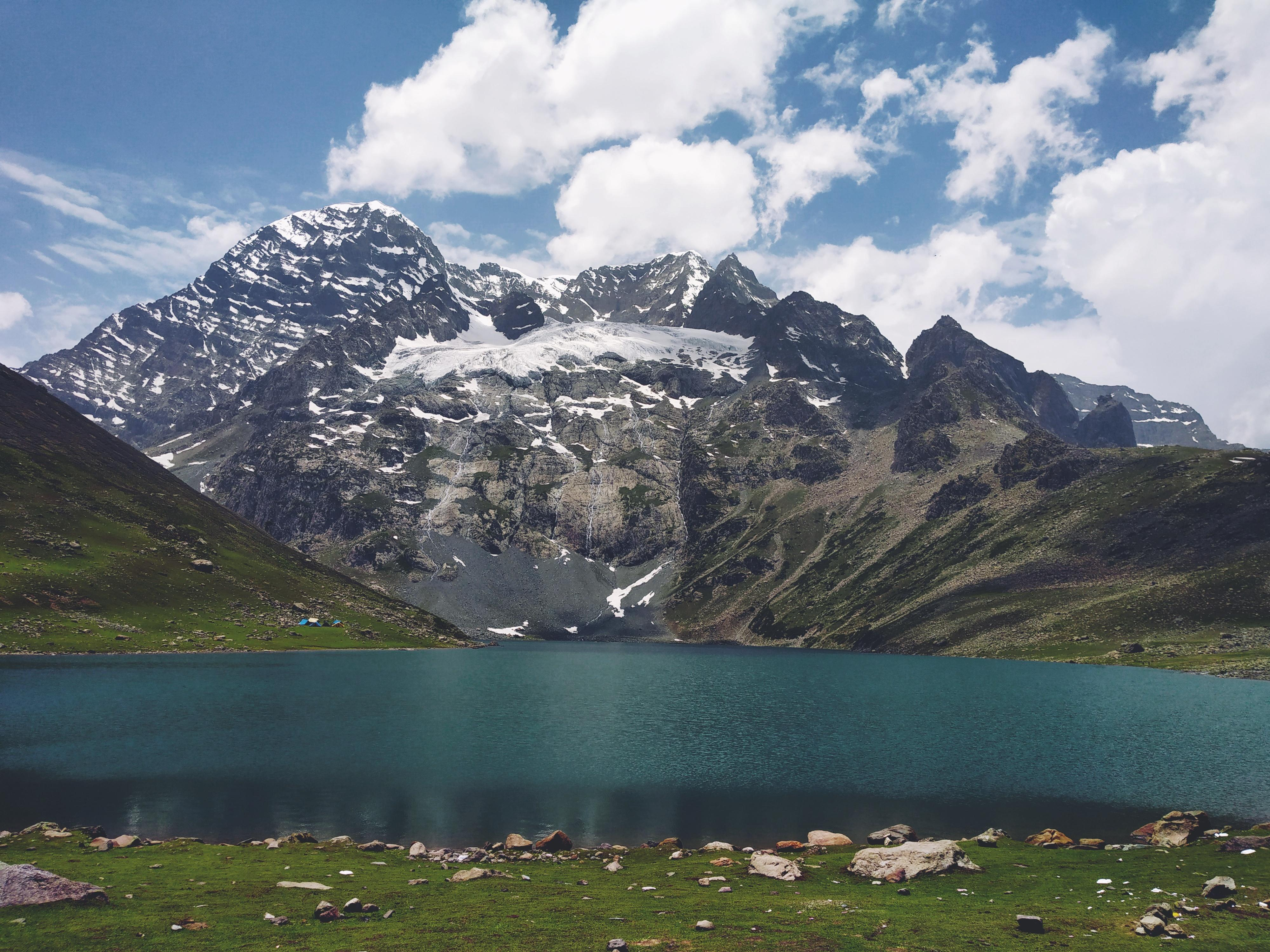 One Of The Five Great Himalayan Lakes Of Kashmir Nundkol