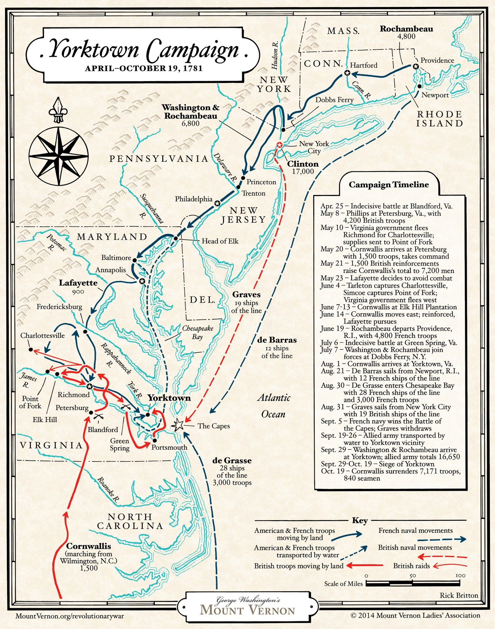 The Yorktown Campaign Of X Map