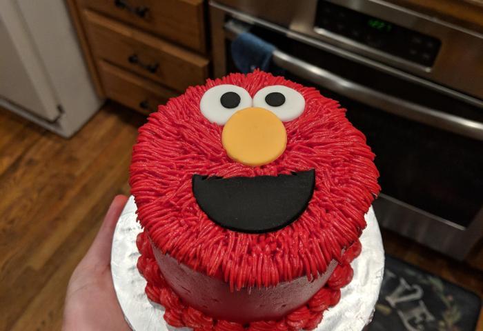 Elmo Smash Cake I Made Baking