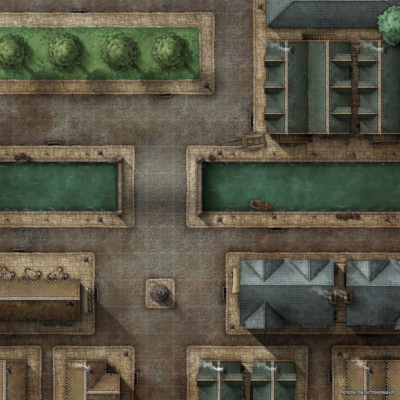 Start Of My Giant City Battle Map Project Battlemaps