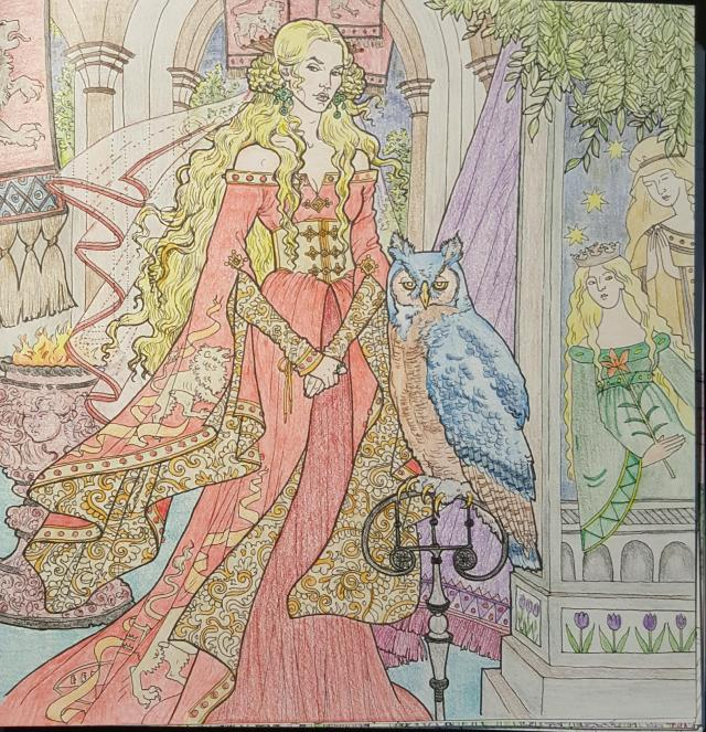 Cersei Lannister from the Official Game of Thrones coloring book