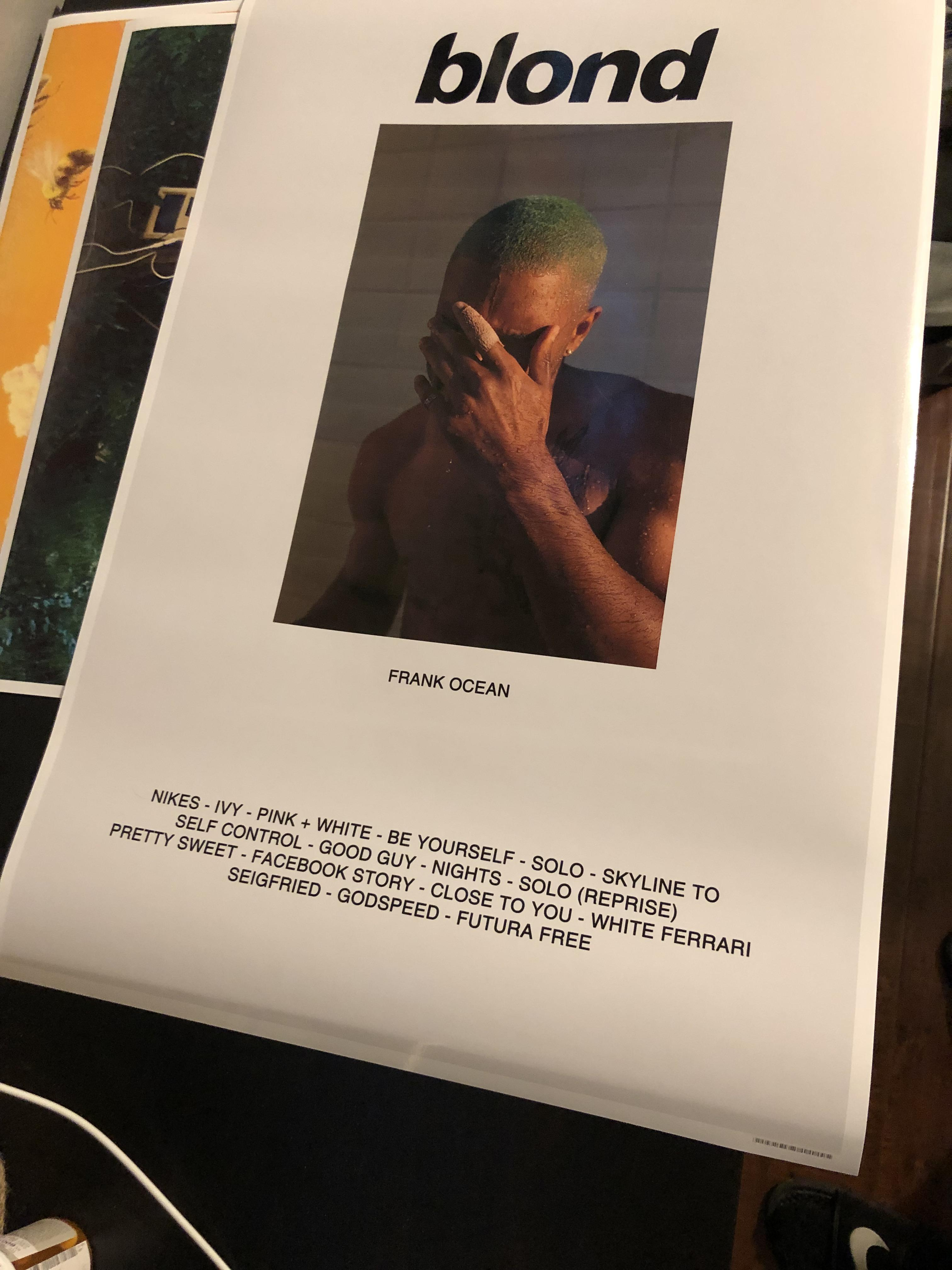 my blonde poster came in today