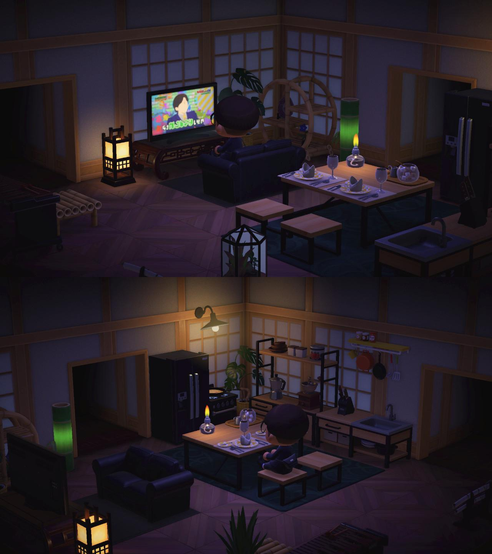 Living Room Animal Crossing New Horizons - RUNYAM on Animal Crossing New Horizons Living Room Ideas  id=32380