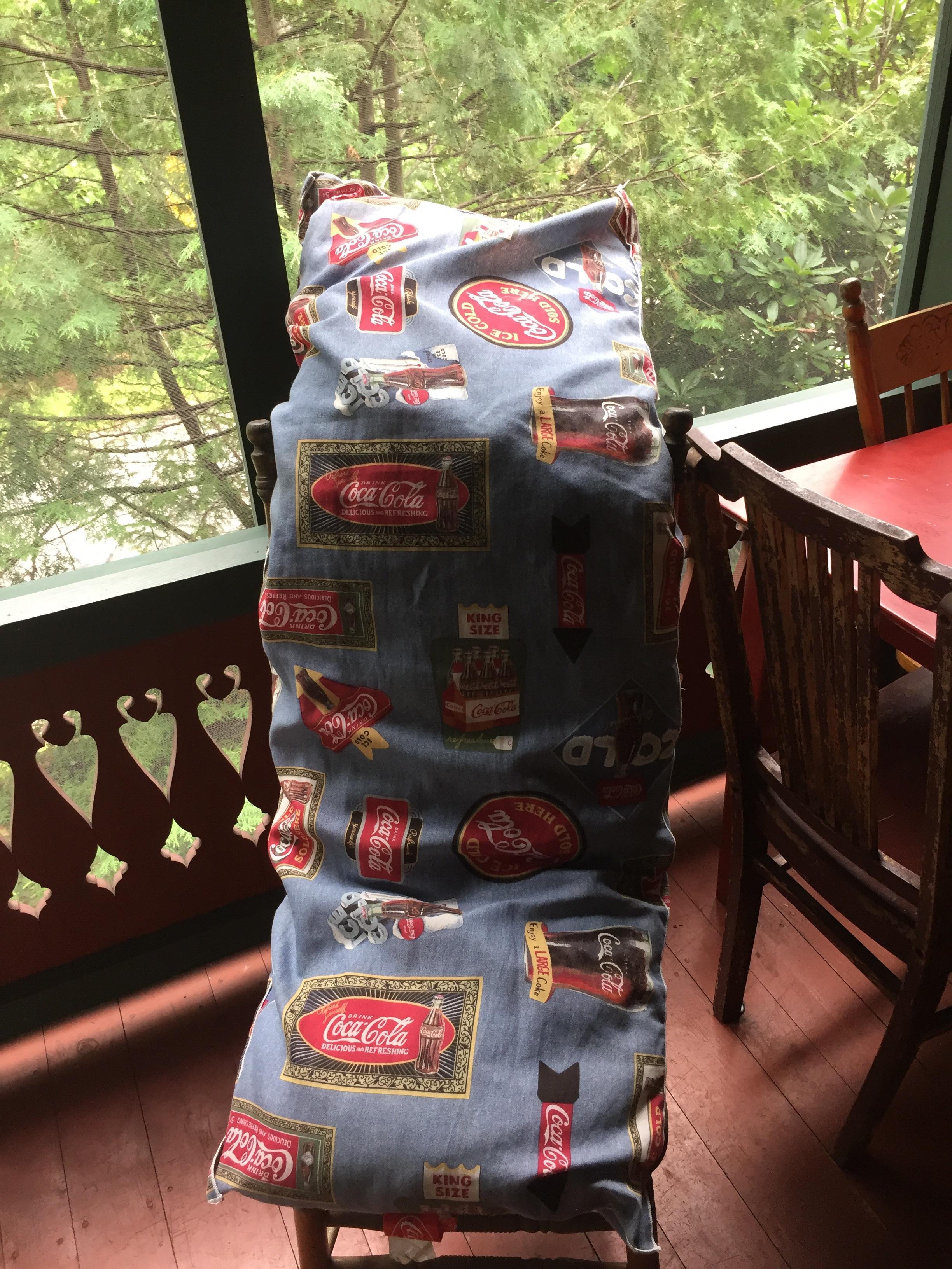a coca cola body pillow