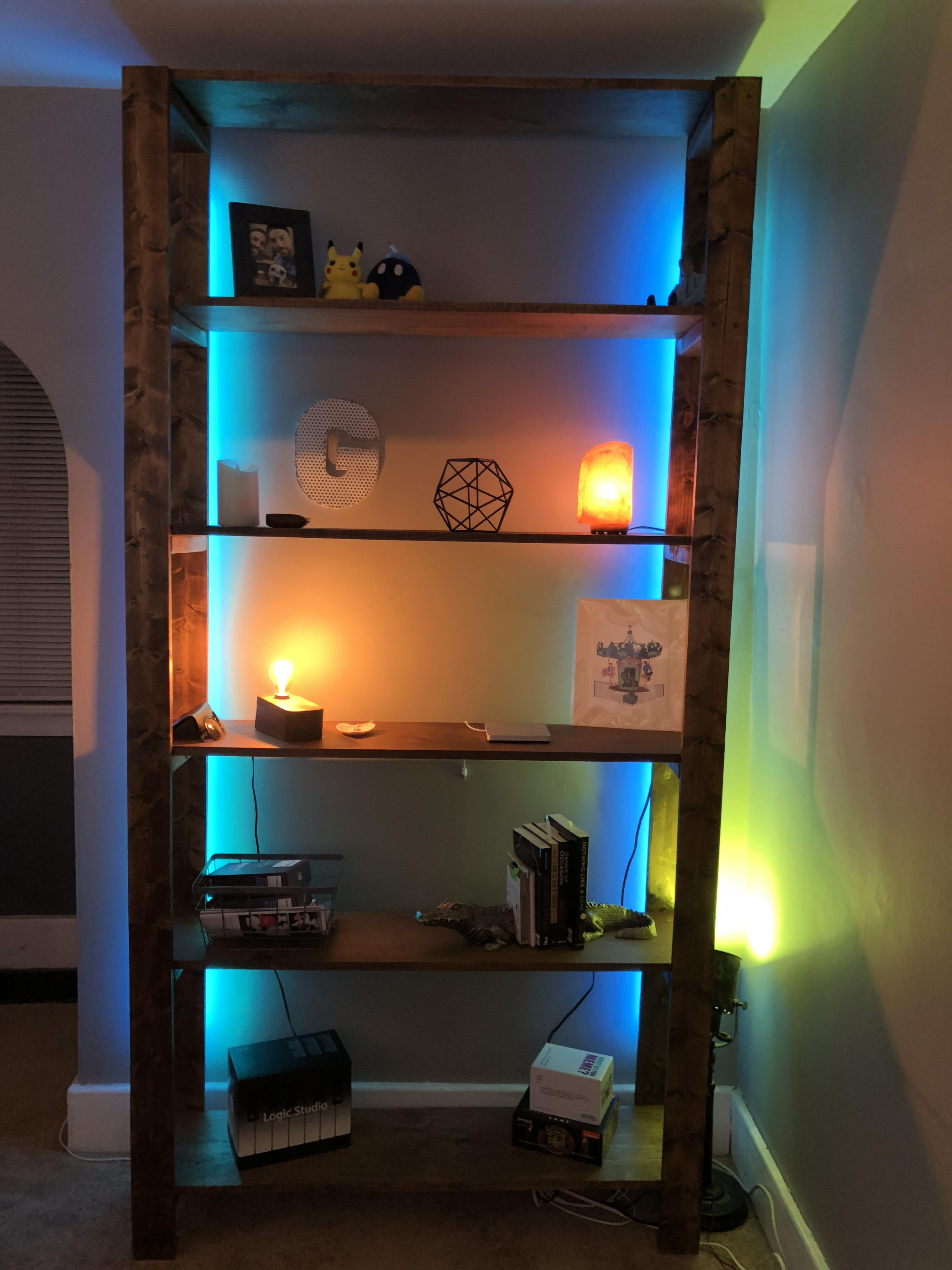 i built a bookshelf for my living room