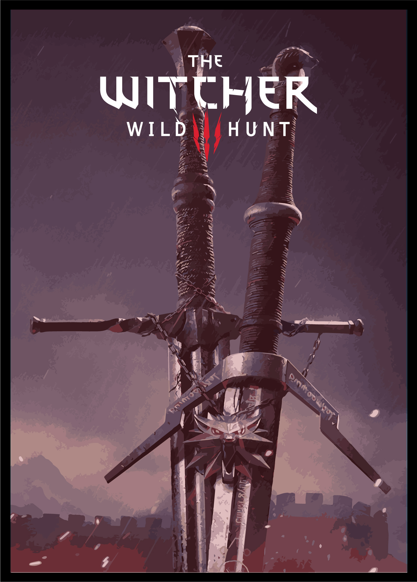 the witcher 3 wild hunt poster by utba