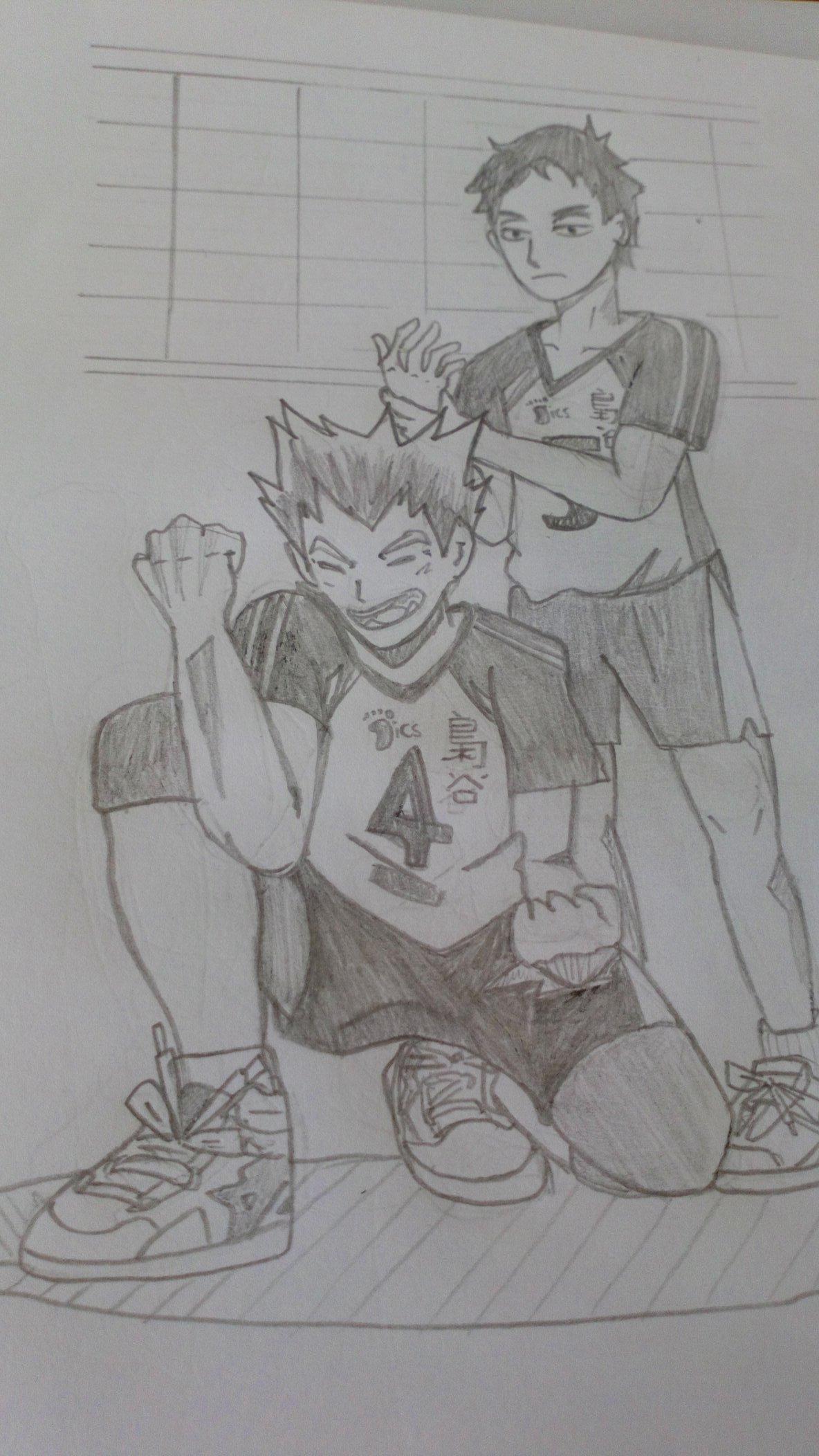 bokuto and akaashi fanart haikyuu