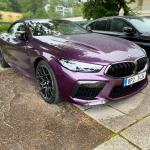Beautiful Purple Bmw M8 Competition Cabriolet Chilling In The Rain Of Austria Bmw