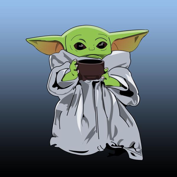 Baby Yoda Vector art I made! : StarWars
