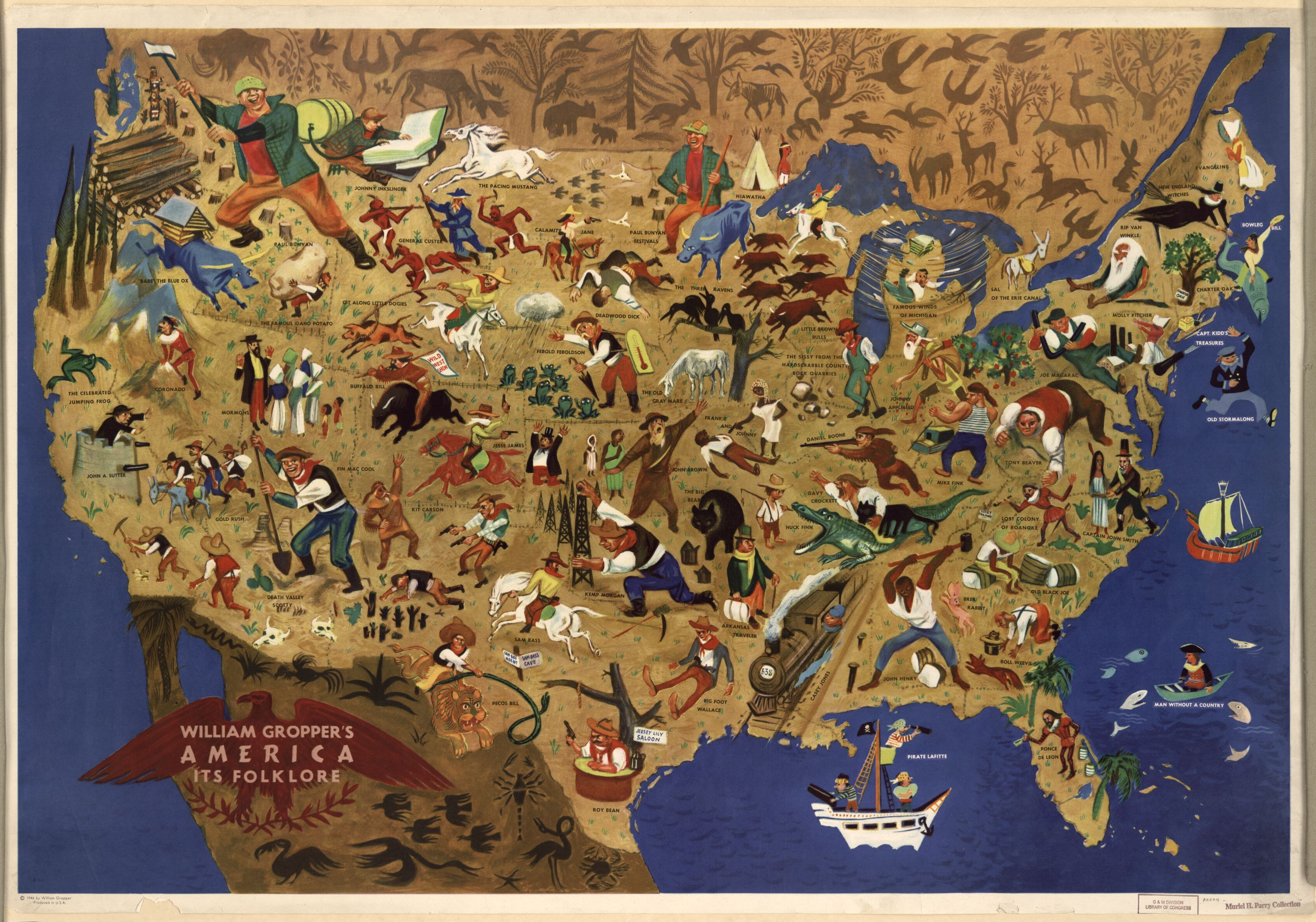 America Its Folklore Depicting 61 Legends Tall Tales