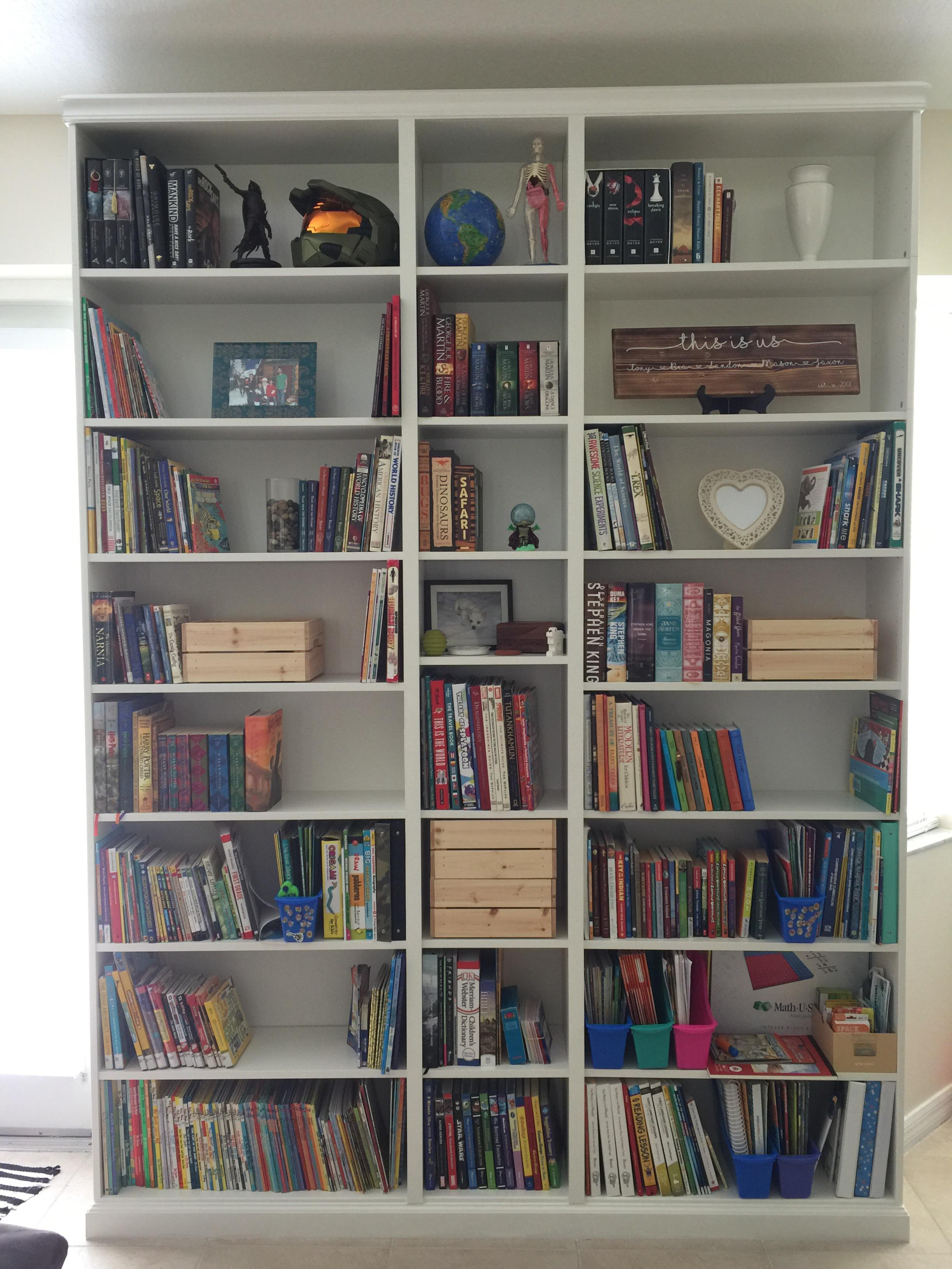 Just Finished My Billy Bookcase Hack To Make It Look Like A