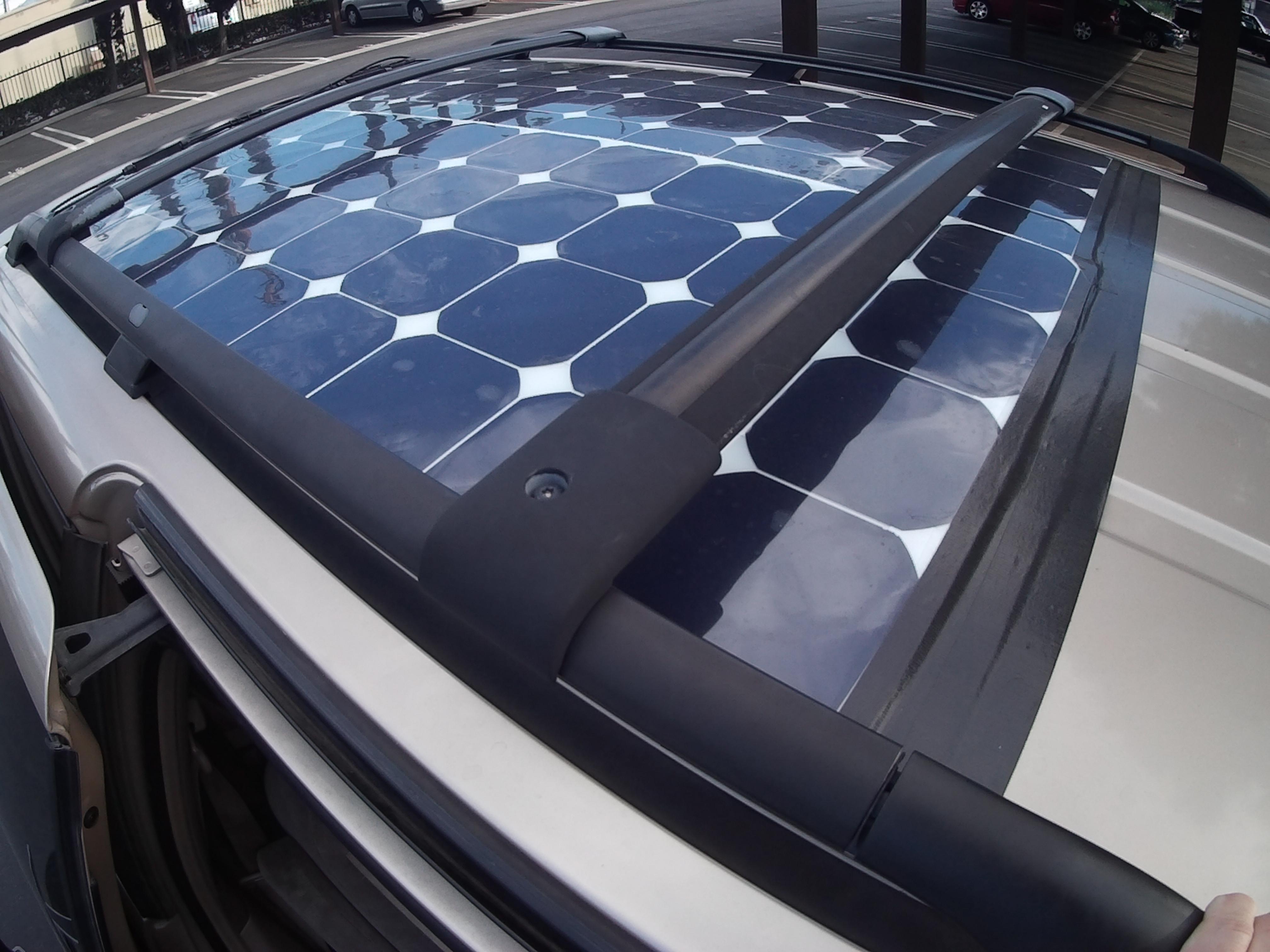 solar panels installed on honda odyssey