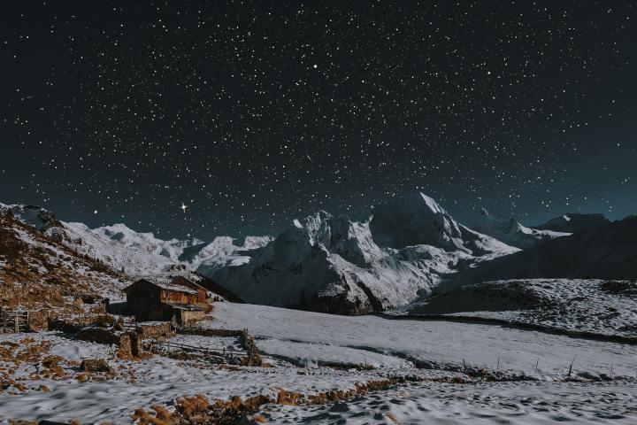 Winter night in Zillertal Alps, Ahrntal, Italy (Photo credit to Eberhard Grossgasteiger) [4500 x 3000]