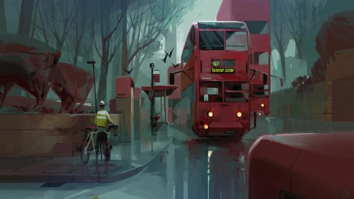 Omnideckers In The Rain by Georgi Simeonov [1920×1080]