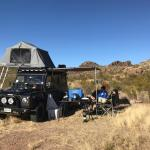Ultimate Front Runner Defender 110 Front Runner Rack Roof Tent Double Jerry Can Holder 40l Water Tank And Awning Landroverdefender