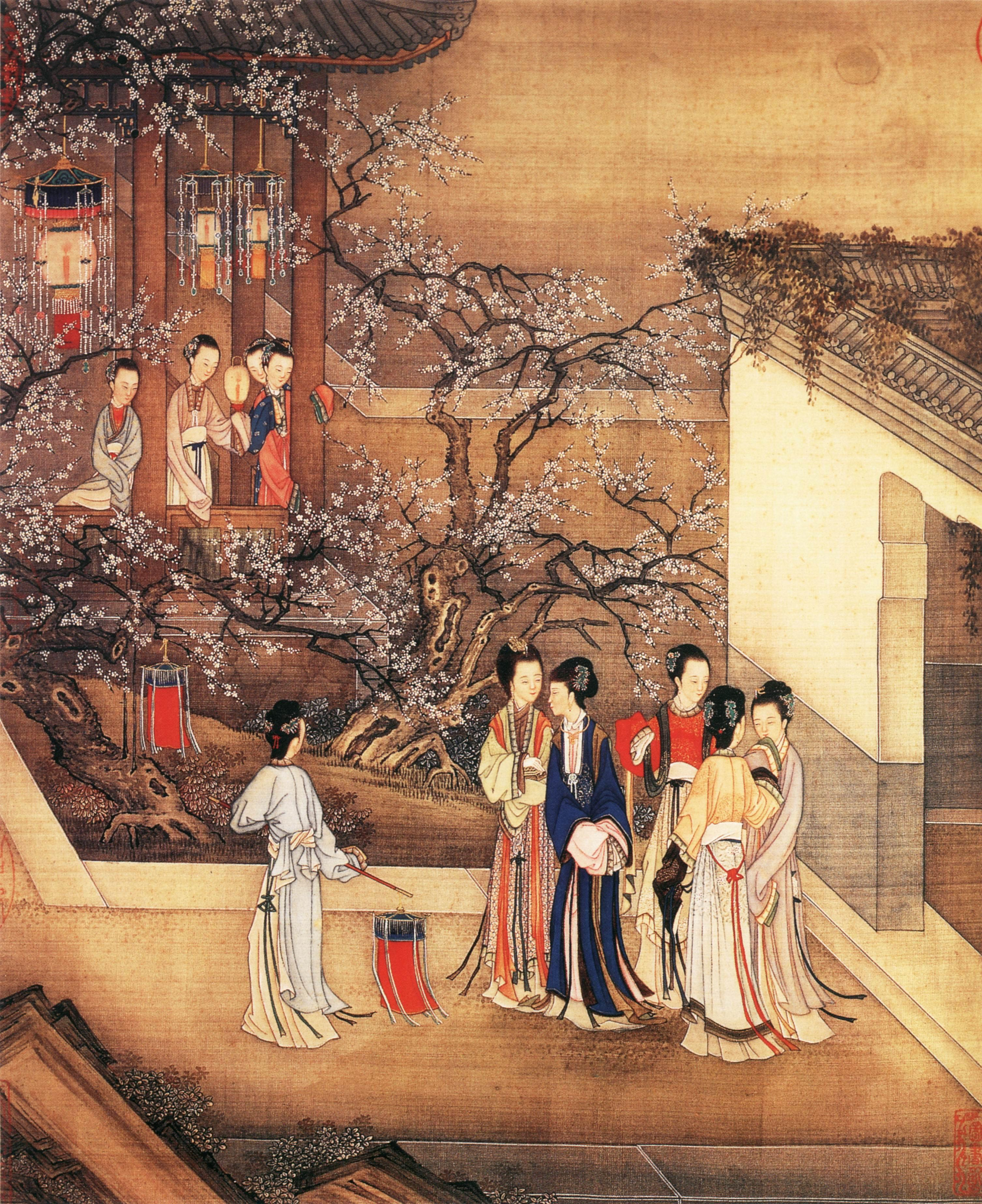 La S Of The Imperial Court Qing Dynasty Painting China