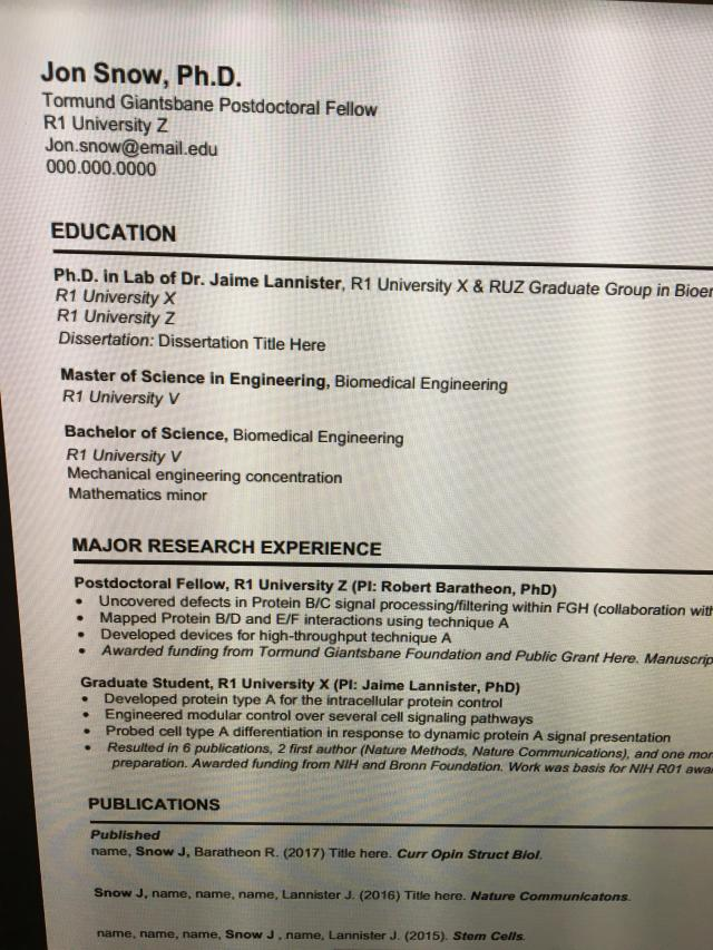 I was looking for a CV template for my PhD application, and this