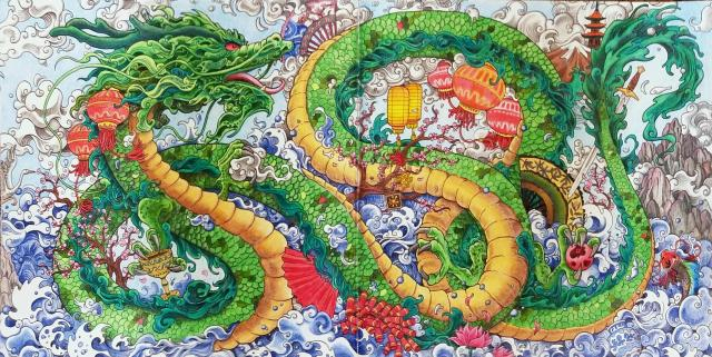 Mythomorphia Chinese Dragon. phew! there are a few things that I