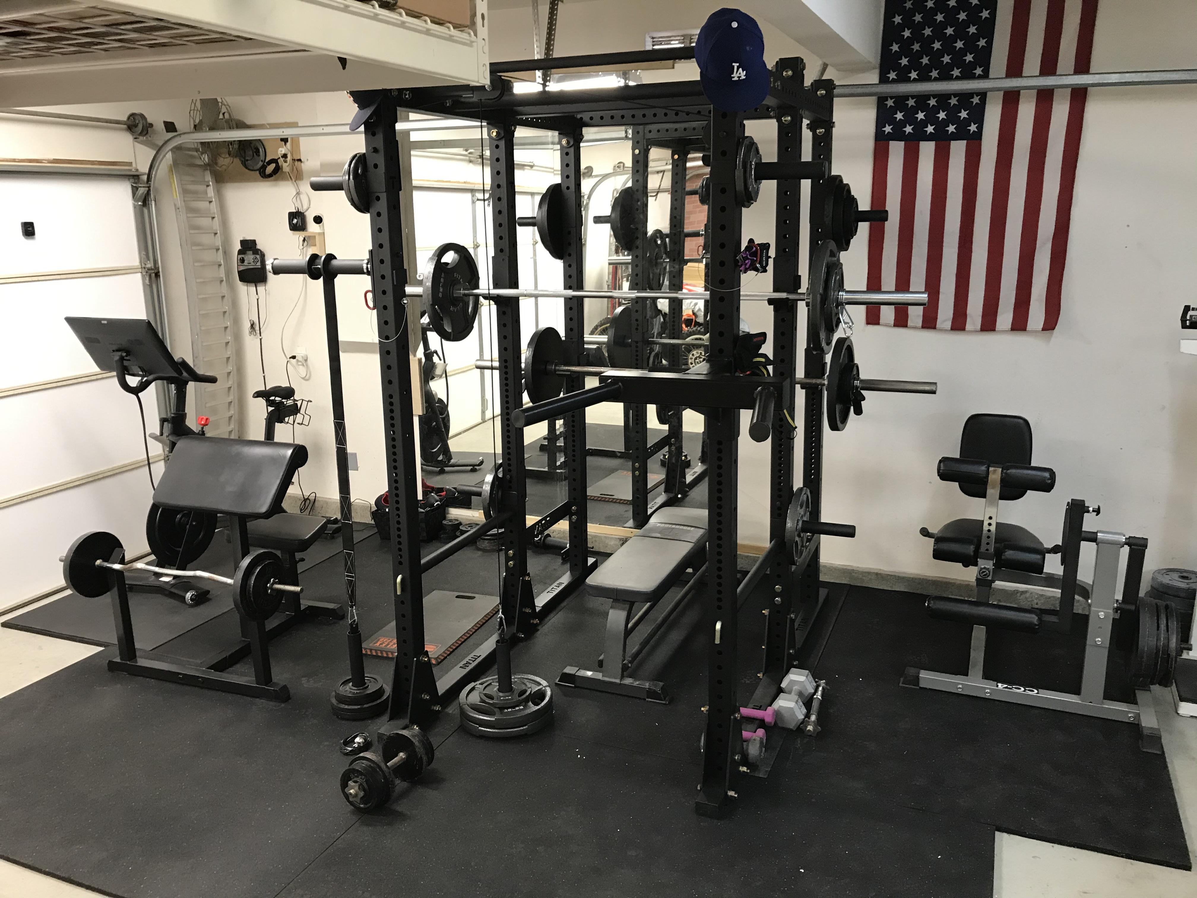 tall x3 power rack with