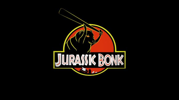 """I present to you """"Jurassic Bonk"""", you may not see him coming but once you open the homework folder he be going bonk. (3840 x 2160)"""