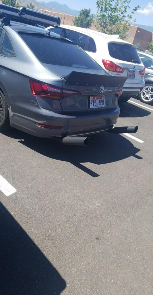 jetta with autozone clip on exhaust