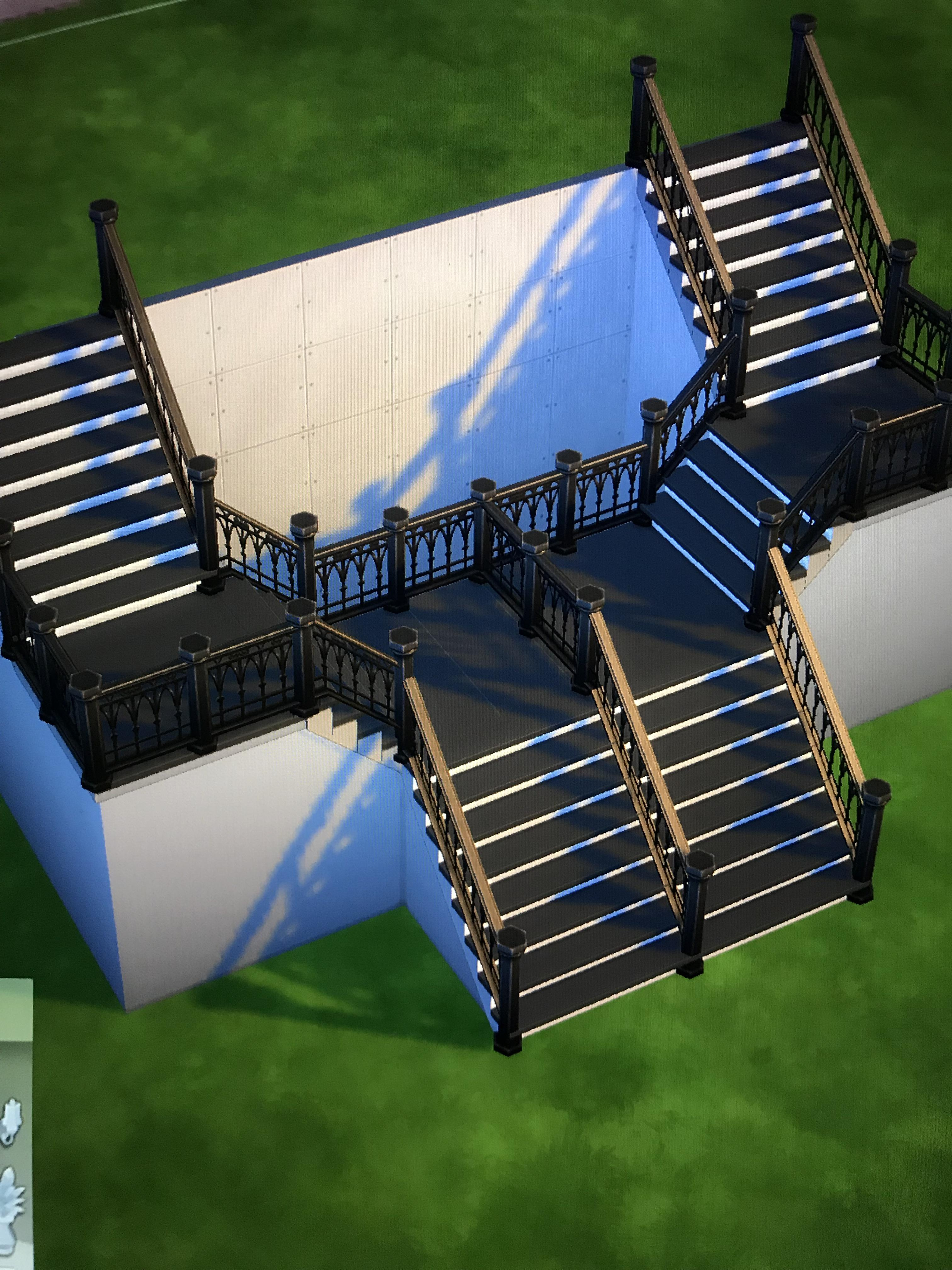 About The New Update I Finally Can Create Awesome Stairs But The | Sims 4 Stair Railing One Side | Stair Case | Build | Shaped Stairs | Spindles | Steel Handrail