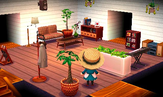 New Leaf Living Room Animal Crossing - RUNYAM on Animal Crossing New Horizons Bedroom Ideas  id=22334