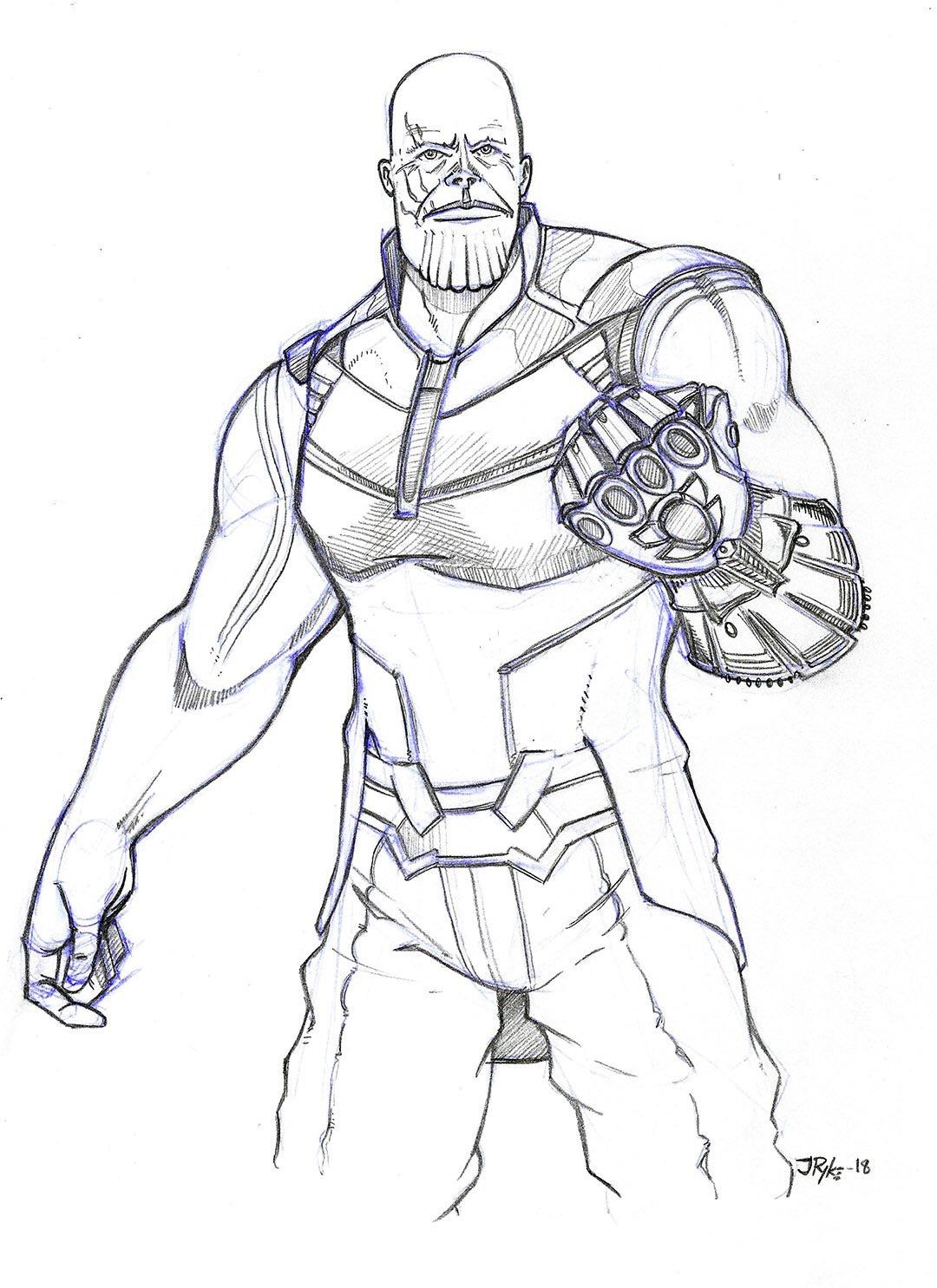 I Drew Thanos A Few Weeks Back While I Was Going Through