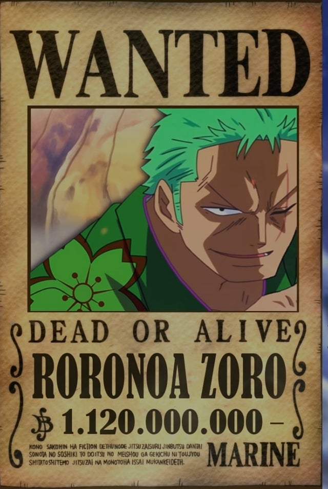 The next bounty increase we see for luffy comes after punk hazard and dressrosa. Zoro Bounty After Wano Onepiece