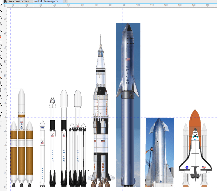 I made a more accurate size comparison of Starship with ...
