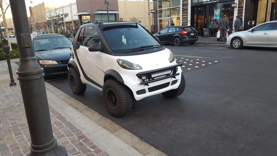 This smart car with big tires   mildlyinteresting This smart car with big tires