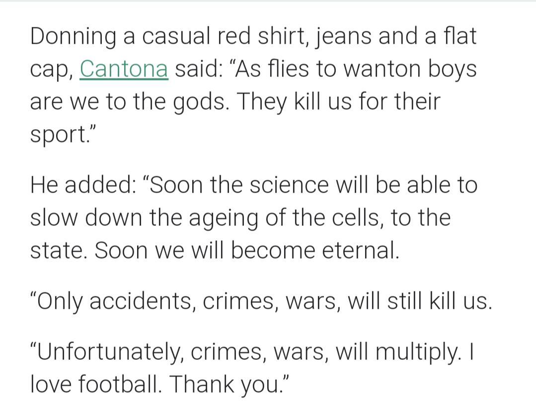 All you need to do is tweak a few settings and remember a chat command to make your text talk. Eric Cantona An Ex Footballer Said This In His Speech At The Champions League Draw Football Ceremony Im14andthisisdeep