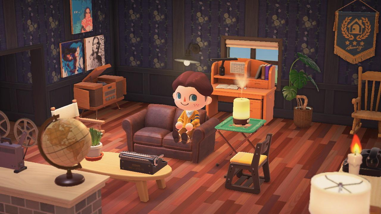 My living room in my house. I'm kinda proud : AnimalCrossing on New Horizons Living Room  id=37388