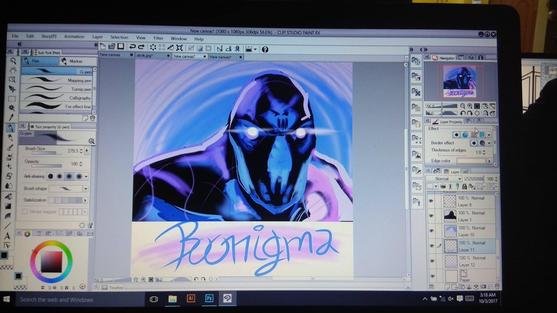I Drew Enigma At My Drawing Class DotA2