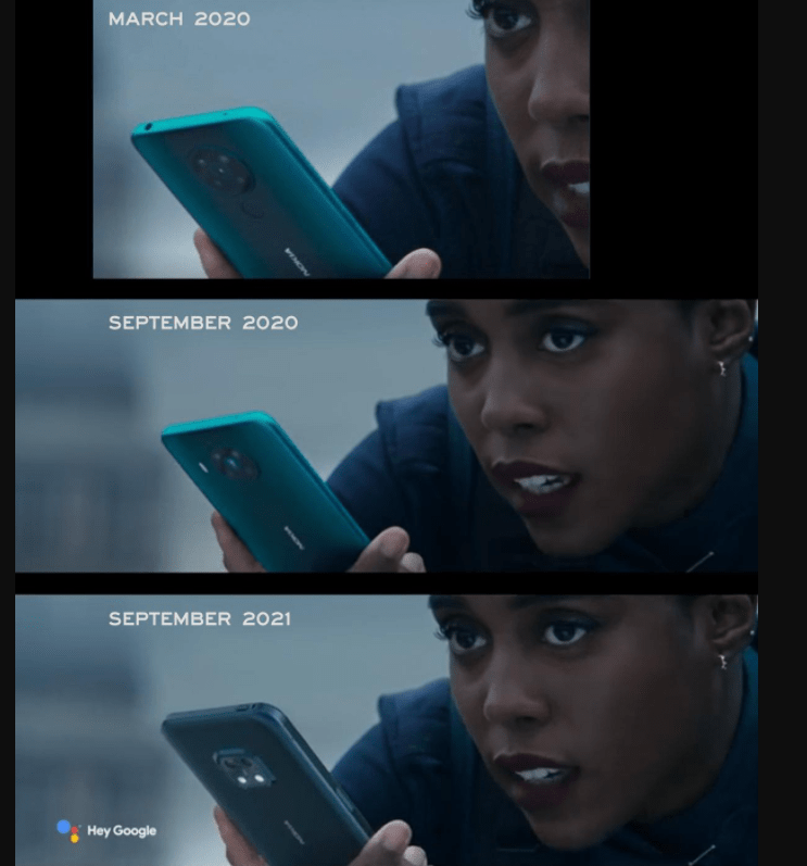 r/JamesBond - How long has NTTD been rescheduled? Long enough that Nokia released 3 commercials as a tie-in with the movie and they had to be edited every single time so it can show their latest phone!