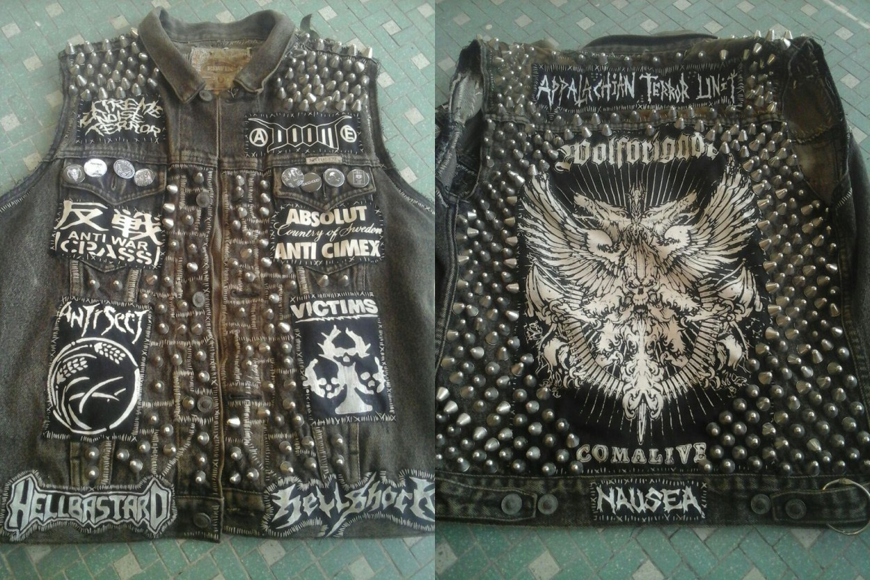 Image result for crust punk vest