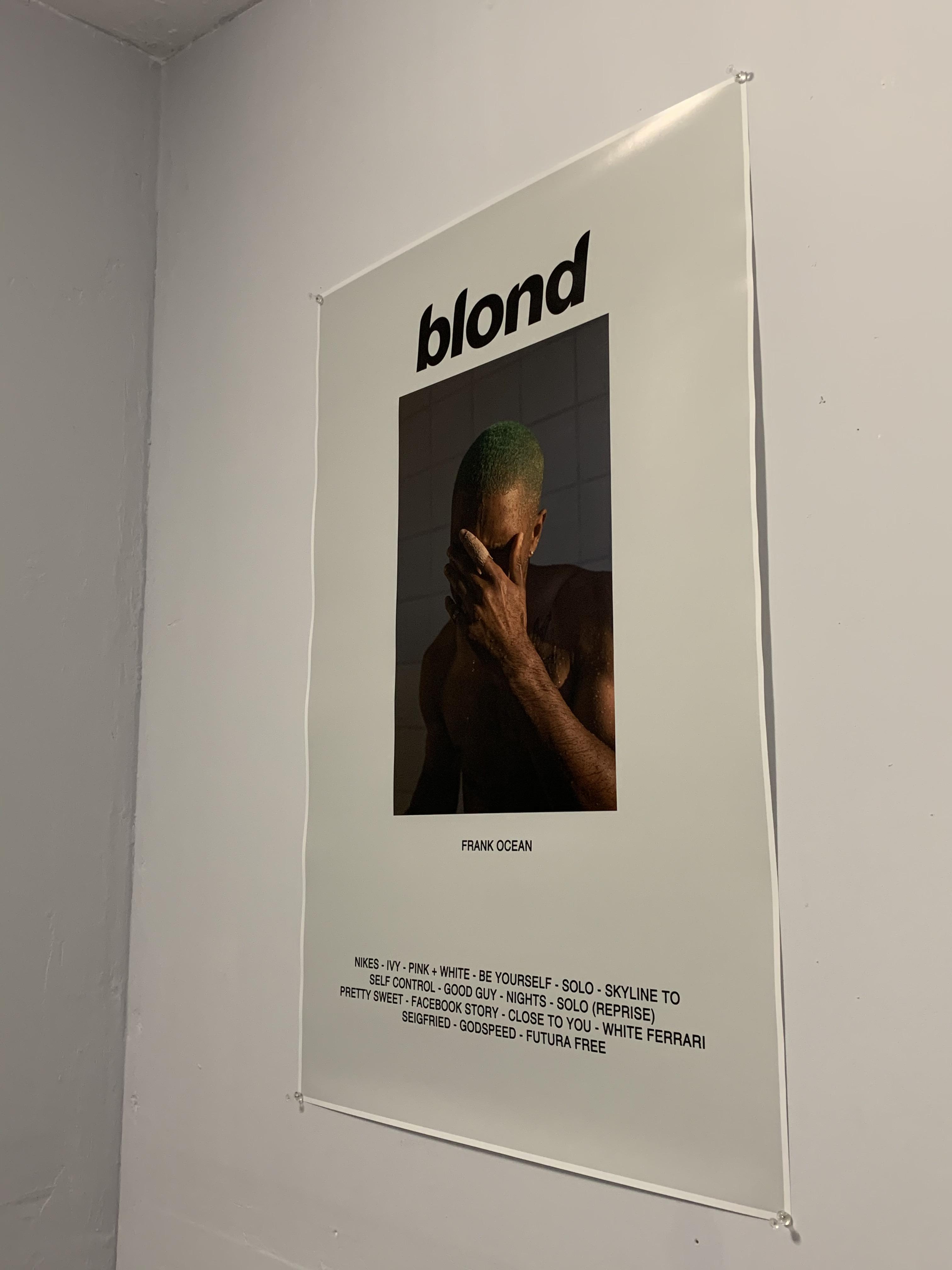 my new blonde poster frankocean