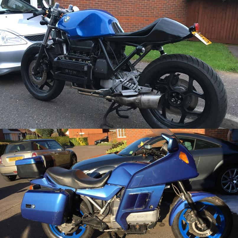 My 89 Bmw K100 Cafe Racer Before And