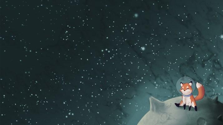 The Little Fox (wallpaper version) [1920×1080]