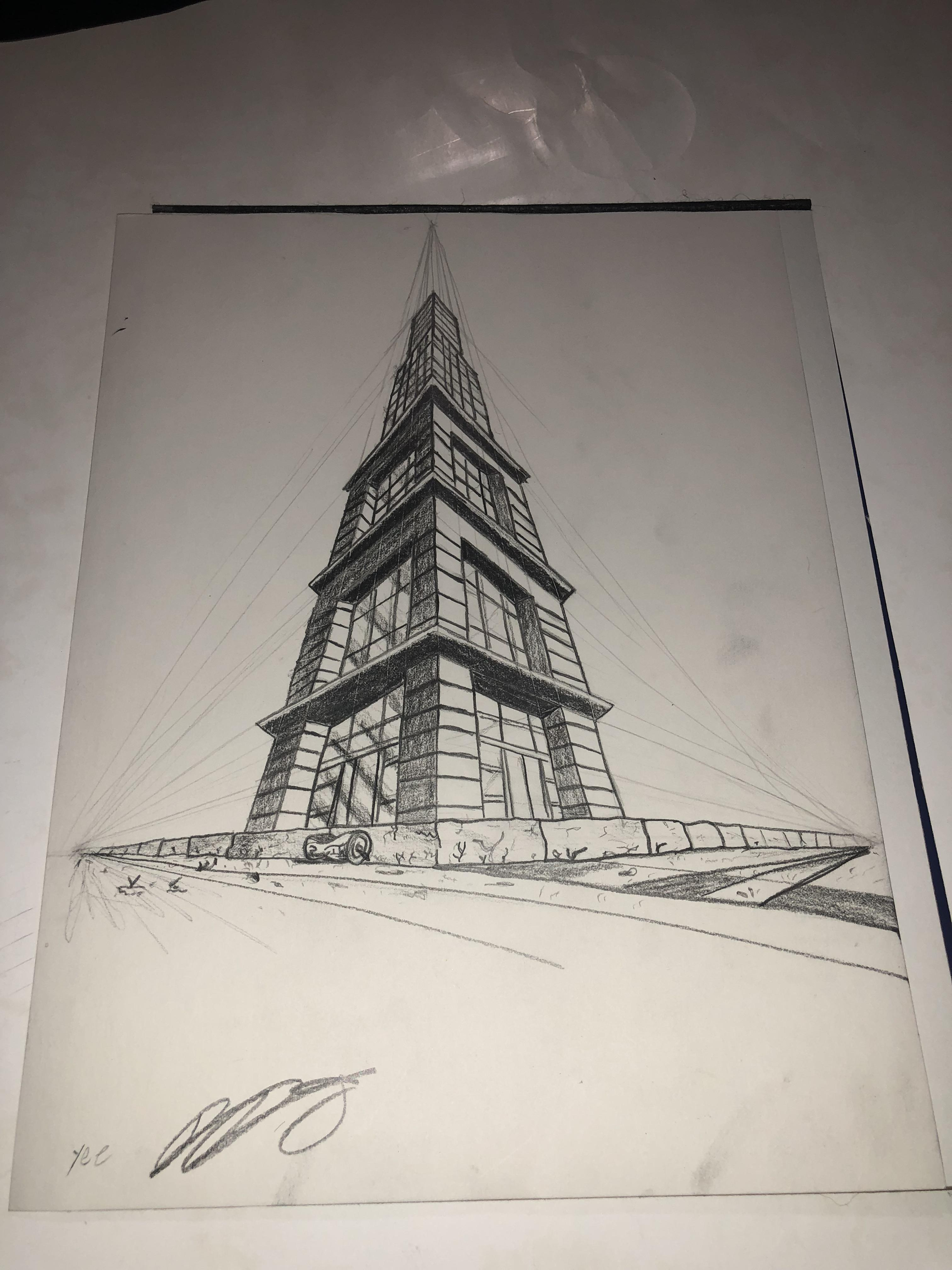 3 Point Perspective Drawing Drawing
