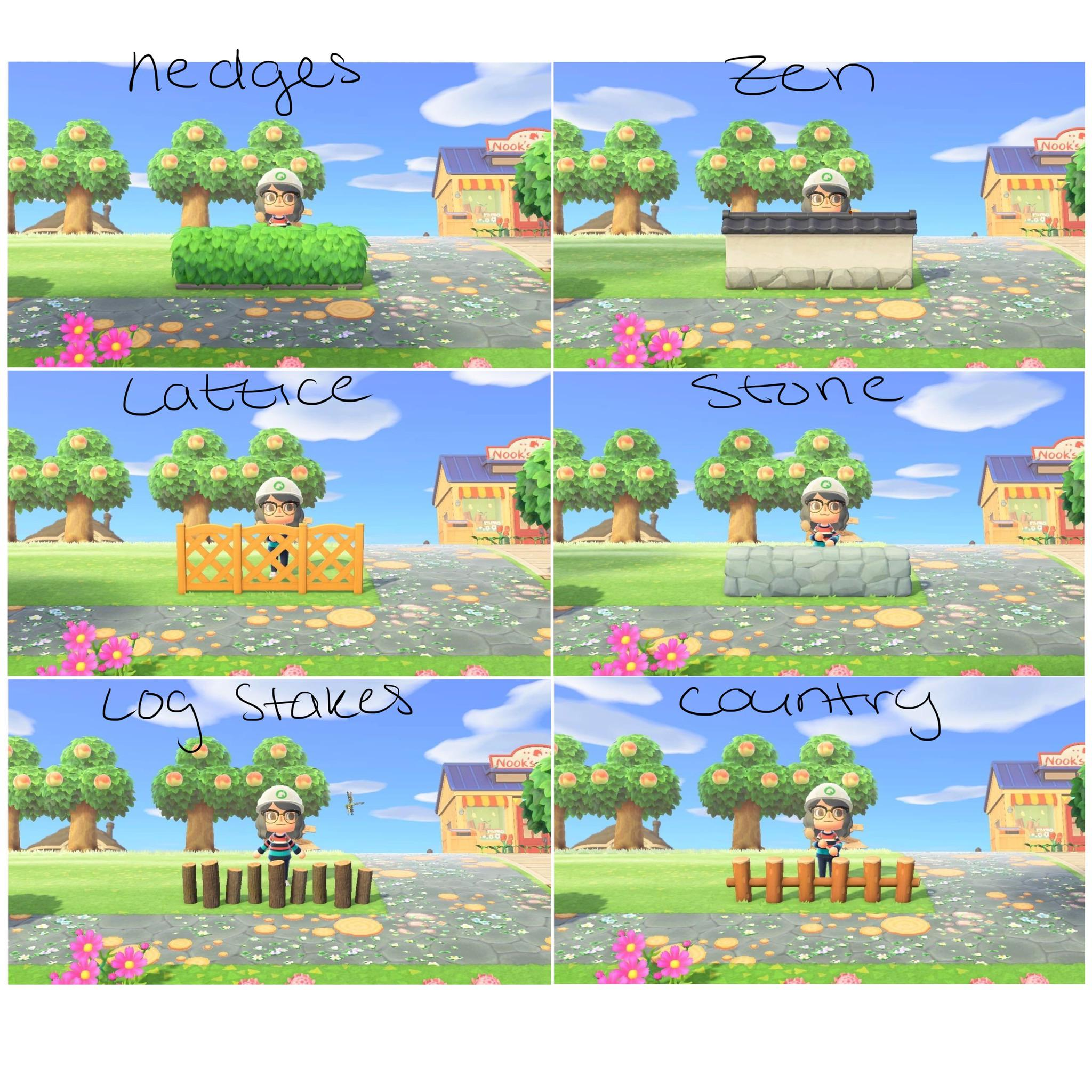 What Fences Should I Use I Really Like The Log Stakes But That S So Much Wood Animalcrossing