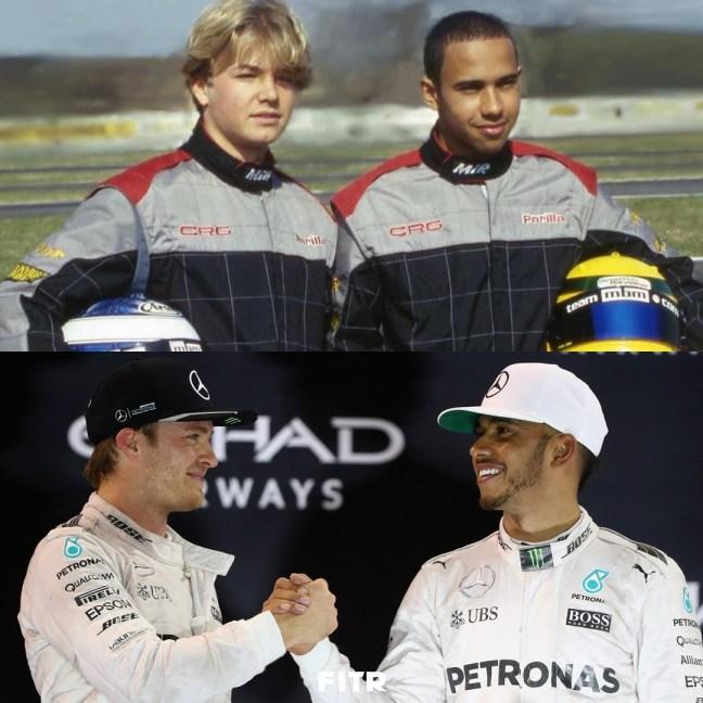 Nico Rosberg and Lewis Hamilton! (Via: @f1.turkish) : formula1