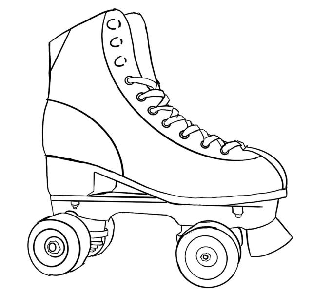 I accidentally made a coloring page while drawing: Rollerskating