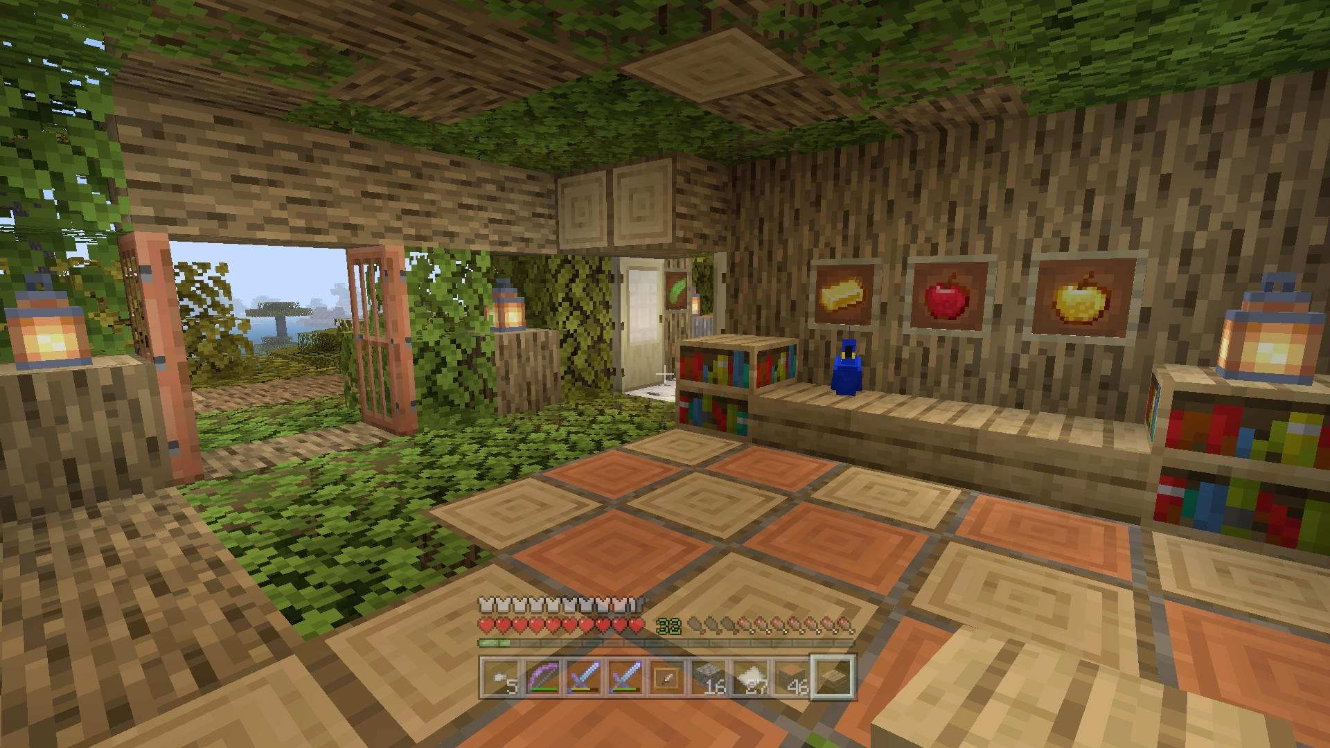 Saw A Big Tree Got An Idea Tree House Minecraft